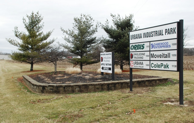 Urbana City Schools approved a tax abatement for a new Navistar warehousing facility on Phoenix Drive, on land owned by Damewood Enterprises Limited. Pictured is the Urbana Industrial Park on Phoenix Drive near the spot where the facility will be built.