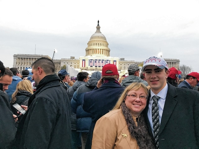 St. Paris resident Kathy DeWeese and her son, David, pose for a photograph in front of the U.S. Capitol Building prior to President Donald Trump's inauguration ceremony Jan. 20 in Washington, D.C.