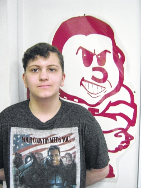 Freshman Connor Hayslip is a January Student of the Month at Urbana High School.