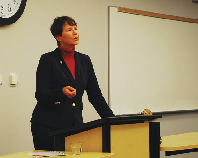 """Ohio Supreme Court Justice Sharon L. Kennedy spoke to members of the Rotary Club of Urbana on Monday. Kennedy's speech was about """"The Ohio Judicial System and You."""""""