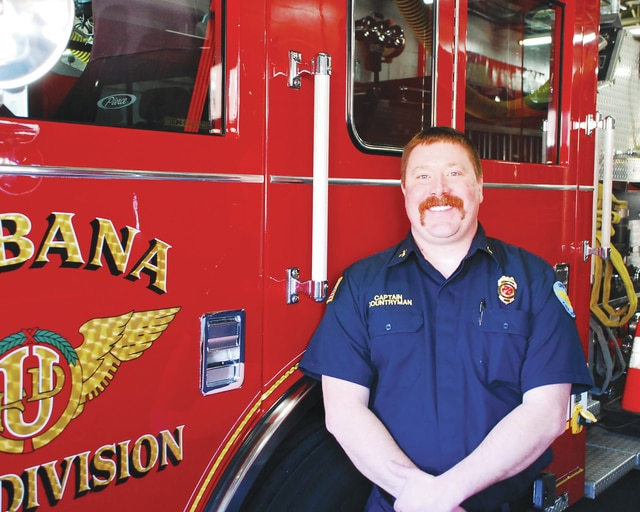 A member of the Urbana Fire Division since 2007, Chad Countryman was promoted to the position of fire captain in January.
