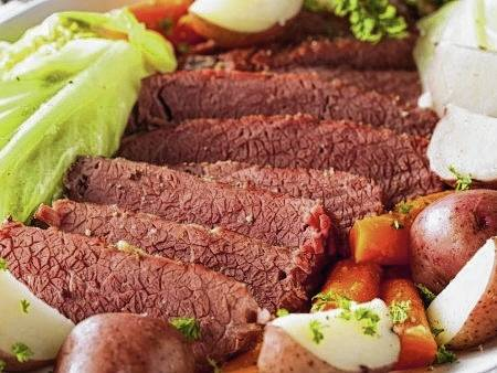 Corned beef should reach an internal temperature of at least 145 degrees. The best way to ensure it is fully cooked is to use a meat thermometer to check for the minimum internal temperature, according to the USDA.