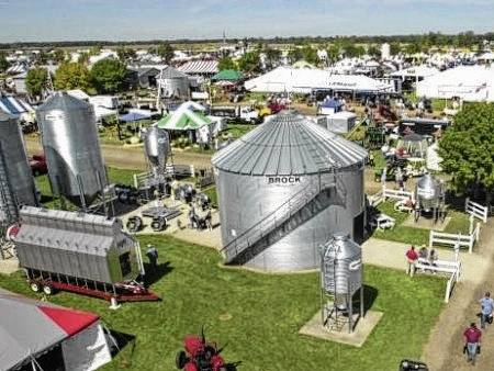 This is an aerial photo of a previous Farm Science Review, held each year at the Molly Caren Agricultural Center.