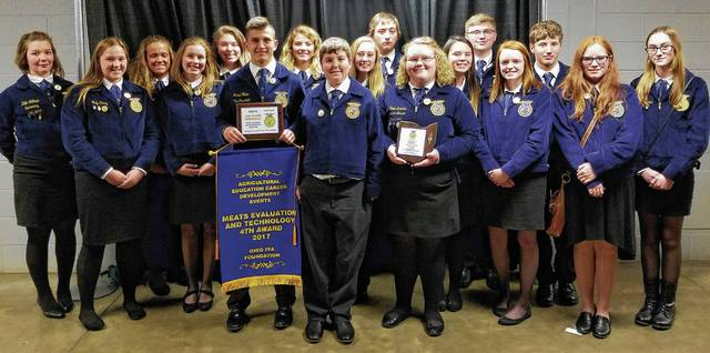 While at the state convention, Urbana FFA students received awards for donations they made to Children's Hospital, CROP/World Service, and FFA Camp Discovery Center.