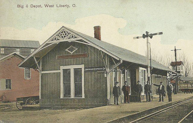 This old postcard features the Big 4 Depot in West Liberty.