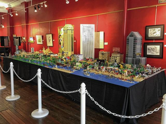 The Lego exhibit can be seen at the Arts Council through July 28. The miniature community includes skyscrapers, a beach and other various scenes and structures one may encounter in a city.