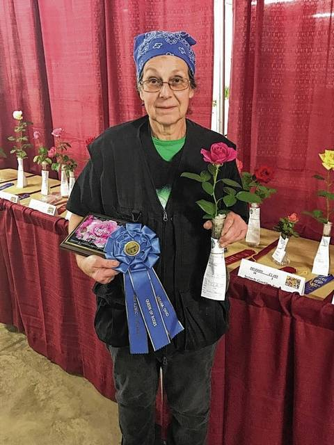 Susan Dorsey was named the 2017 Queen of Roses for her Pretty Lady Rose.