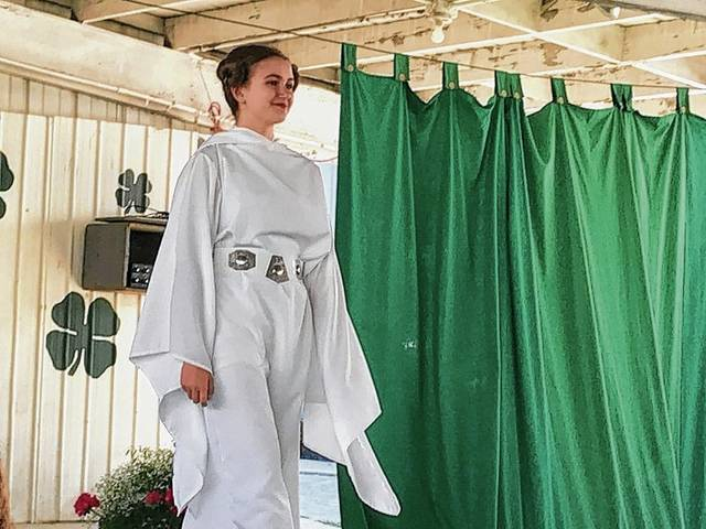 Anna Bielawski models her Star Wars-themed Princess Leia outfit during the Creative Costumes category.