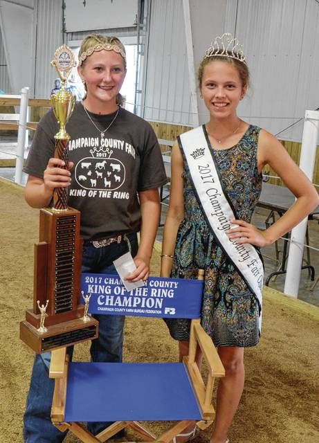 Emma Violet won the 2017 King of the Ring contest at the Champaign County Fair on Thursday.