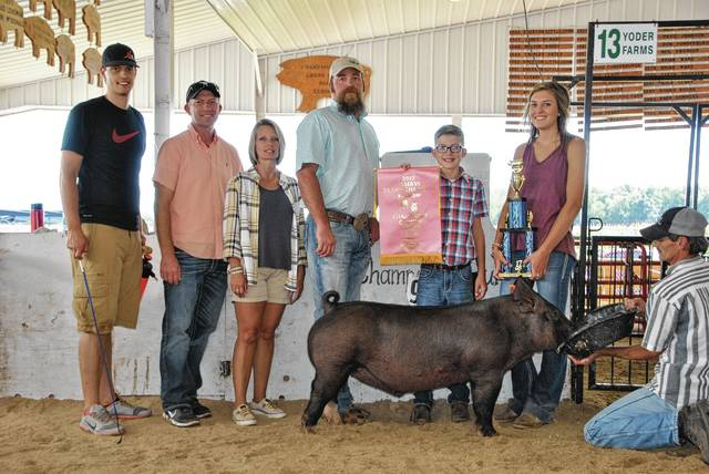 Cale Hall, Reserve Overall Champion Barrow