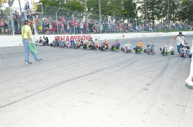 In addition to the Penny Scramble, there will be big wheel racing for the youngsters at Shady Bowl Saturday night.