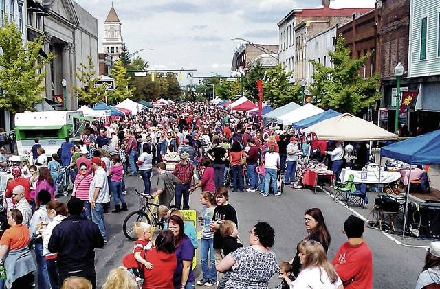 This photo of a previous Simon Kenton Chili Cook Off Festival shows a crowded North Main Street.