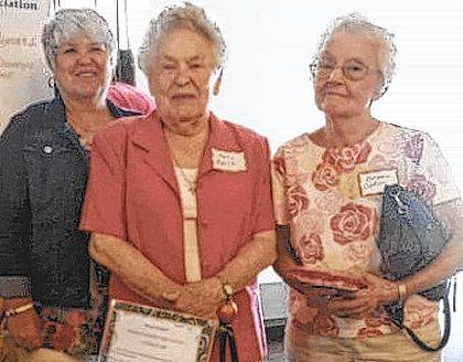 Three women were welcomed to CCRTA at the most recent meeting. From left are Julie Jenkins, Polly Bailes and Barbara Collins.