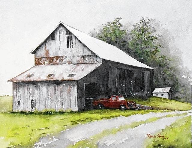 Artist Rhonda Sloan will provide advice on painting rural scenes during a workshop Nov. 18 at the Arts Council. This is one of Sloan's rural paintings.