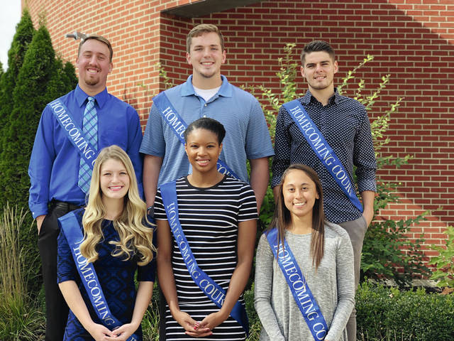 Urbana University has announced its 2017 Homecoming Court. Homecoming King and Queen will be announced at halftime of the Blue Knight Football game on Saturday, Oct. 28. Pictured: (Back L to R): Brandon McRae, Thomas Baker, and Thibout Bourrier; (Front L to R): Bri Burkhalter, Aleese Butler, and Macy Torres.
