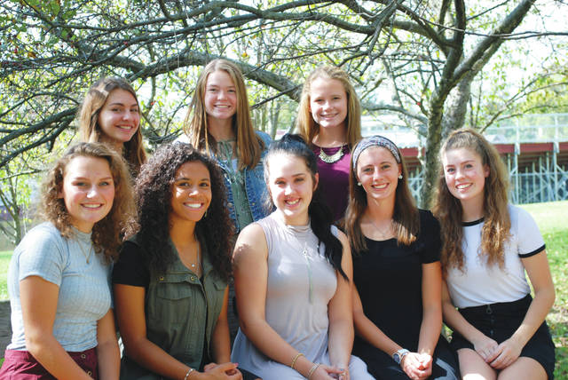 Pictured are Urbana High School homecoming court members (standing, from left) Cierra Sturgell, Zhoe Evans, Marissa Horn; and (seated, from left) Emma Rickett, Taje Mack, Morgan Bandy, Libby Arnett, Maginta Grim