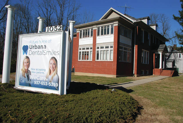 Urbana Dental Smiles is renovating for use the historic structure at the corner of state Route 55 and South Main Street in Urbana.