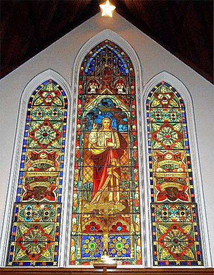 This is the altar window in the Urbana Church of the Epiphany.