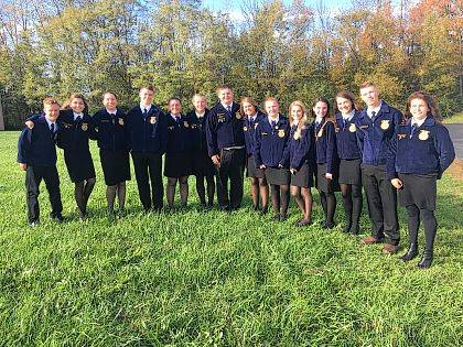 In October, the West Liberty-Salem FFA chapter attended the National FFA Convention in Indianapolis, Indiana.