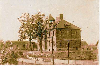 Then - This circa 1910 photo is of the Magrew school in Westville.