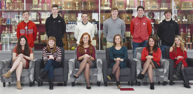 Triad High School will be holding its annual Sadie's winter homecoming festivities this Friday at its home game against Fairbanks. Tip off is at 4:45 p.m. with the freshman game followed by the JV game and then varsity game. Crowning of the Sadie's King and Queen will be done during intermission of the JV and varsity game. There will be a dance immediately following the game at the school until 11 p.m. The 2018 Sadie's Court members are: Front row (left to right) Freshman Attendant Abby Walls, Sophomore Attendant Bailey Perry, Junior Attendant Brianna Eaton, Senior Queen Candidate Cassey Poe, Senior Queen Candidate Kiki Zizzo and Senior Queen Candidate Leaira Smith. Back row (left to right) Freshman Attendant Drew Campbell, Sophomore Attendant Andrew O'Neal, Junior Attendant Austin Bails, Senior King Candidate Briley Harlan, Senior King Candidate Hadley LeVan and Senior King Candidate Trevor Instine.