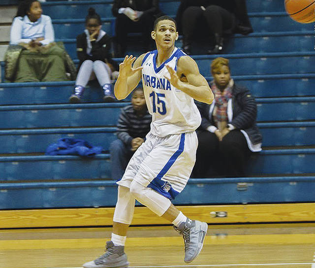 UU's Malik Jacobs (15) scored 11 points in Saturday's overtime loss to visiting Notre Dame College.