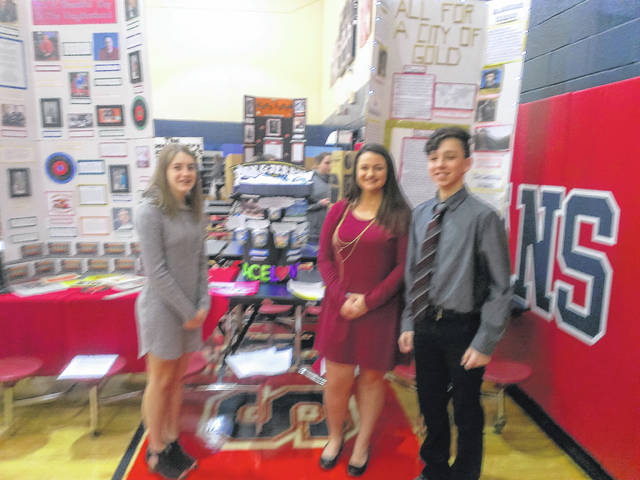 Shown are Macie Campbell, Lindsey York and Justin Rutan.​