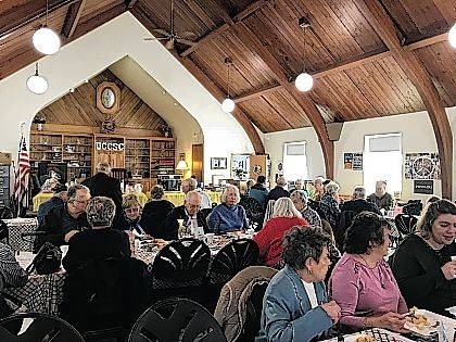 Several people gathered at the Urbana Champaign County Senior Center for the facility's annual Palm Sunday Brunch. This weekend is Easter Sunday. See the local church service and event information for this weekend and the first part of April on today's Religion page.