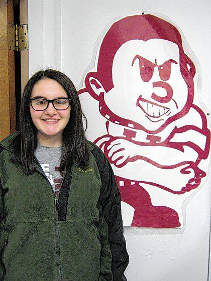 Jadean Frost, a junior, is Urbana High School's Student of the Month.