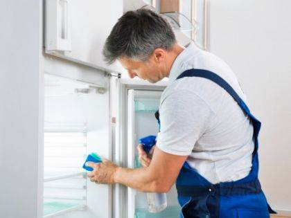 If need be, you can do a deep cleaning of your fridge. To do so, fill a cooler with ice to store the food from the fridge while you are cleaning it. Clean each shelf and compartment with warm, soapy water.
