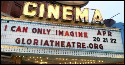 "The Gloria Theatre's showing of ""I Can Only Imagine"" drew such a crowd last weekend that there will be encore showings this weekend."