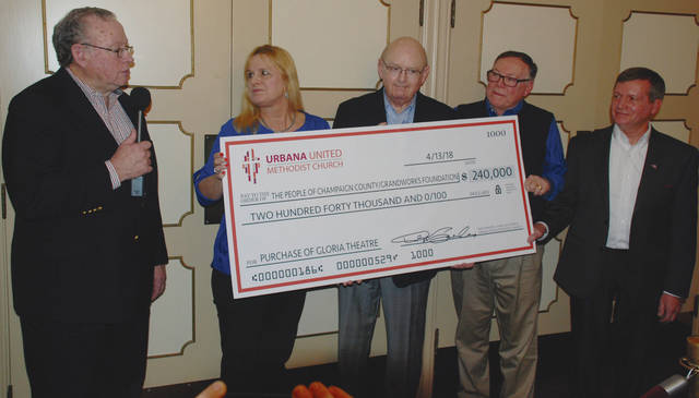 Pictured at Friday's check presentation are Don Sanders, Staci Weller, Mike Melvin, Bill Bean and Steve Hess.