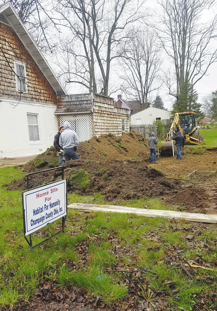 Kevin Day and his workers have begun excavation on this year's Habitat for Humanity WomenBuild site at 517 S. Main St. in Urbana.