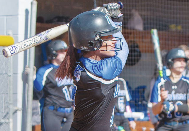 UU's Mykee Holtz (pictured) blasted a two-run homer in Saturday's first game.