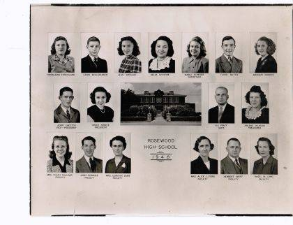 The Rosewood High School Class of 1948 will get together for a reunion dinner Friday at The Farmer's Daughter.