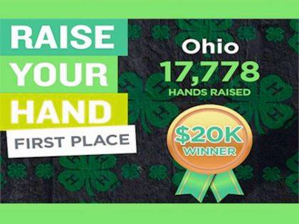 4-H alumni and friends helped bring a $20,000 prize home to Ohio for the second straight year.