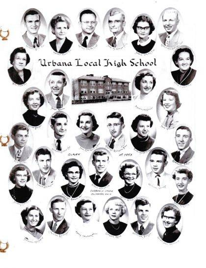 The Urbana Local Class of 1953, shown here, will be honored at the annual Urbana Local Alumni Association Banquet in the Urbana Local School gym May 19. Also recognized will be the classes of 1943, 1948, 1958 and 1968. Social hour starts at 5:30 p.m., followed by a 6 p.m. buffet. For reservations, call Treasurer Jane Virts Stimmel, 937-826-3344. Dinner reservations are $15 per person.