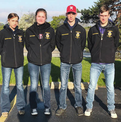 Pictured from left is the Mechanicsburg Meats Team: Taylor Ayars, Elly Schipfer, Colin Hartley and Logan Hurst.