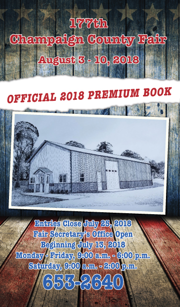 2018 Champaign Co. Fair Premium Book