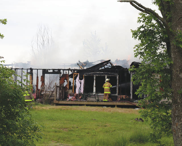 Multiple local fire crews responded to a fully involved structure fire at 2359 S. Elm Tree Road, St. Paris, on Tuesday prior to 3 p.m. No information on the cause of the fire or possible injuries was available at press time. The property is owned by Karen Brigner, according to information from the Champaign County auditor's website.