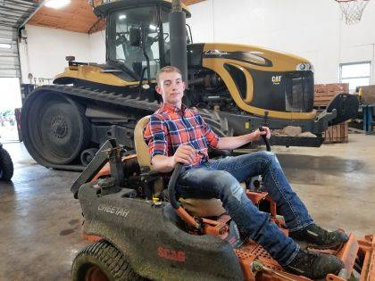 Lane Boggs, a 17-year-old student at West Liberty-Salem, shown here, says he's always had a green thumb and enjoys the outdoors, so is starting a landscaping/lawn care business this summer. His services include mulching, mowing, tree and bush pruning and trimming, as well as spring, fall and monthly yard cleanup, tilling, power washing, gutter cleaning, aerating, dethatching, sod installation, paver patio installation and more. Contact Boggs at 937-869-2422. Business hours are 7 a.m. to 9 p.m. daily.