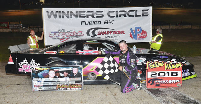 Josh Smith of Quincy (pictured) won the Bobby Korn/Lil' Bobby Korn 72-lap Late Model feature at Shady Bowl Speedway last week.