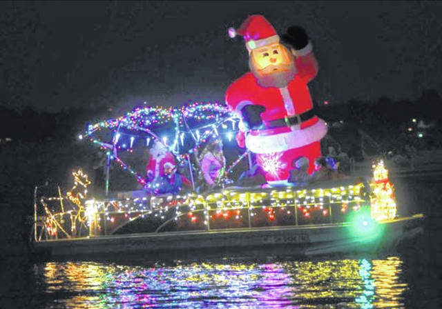 The annual boat parade features unique decorative additions.