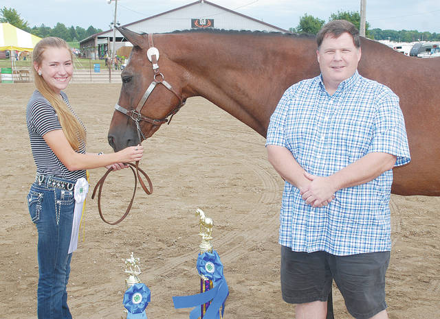 Addy Johnson: Equitation overall champion. Sponsored for $220 by Edwards Tax Services and Business Consulting.