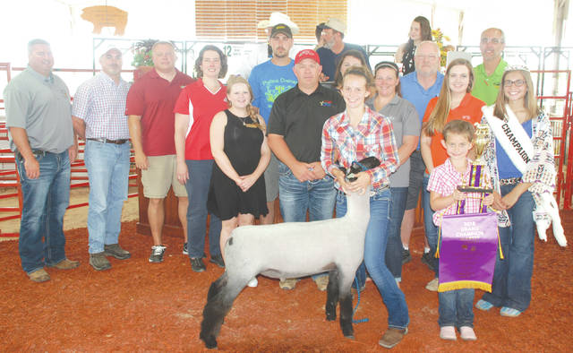 Ava Prince sold her Champion Market Lamb to a syndicate for $2,250.