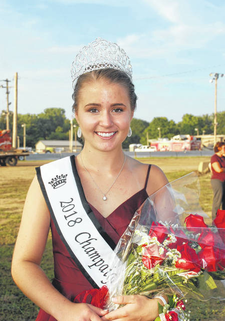 Lora Current was crowned 2018 Champaign County Fair Queen during ceremonies at the grandstand on Sunday.