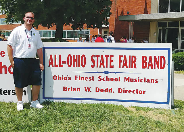 2018 Mechanicsburg graduate Gage Newland represented Champaign County for the second year at the Ohio State Fair. Newland plays trombone and will be off to Muskingum University to study Music Education in hopes of becoming a band director.