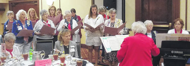 The Urbana Chapter Daughters of the American Revolution World War I Singers perform at the OSDAR fall event.