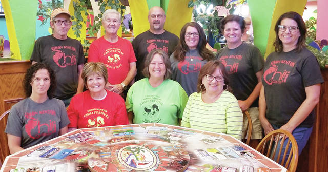 Pictured from left are a few of the chili festival committee members: (seated from left) Lois Monroe, Sandy Gonzalez, Linda Monroe and Mary Collier; (standing from left) Jeff Heiberger, Vince Gonzalez, Mark Hall, Carolyn Headlee, Beth Adair and Amy Armstrong. Not all committee members were available for the photo.