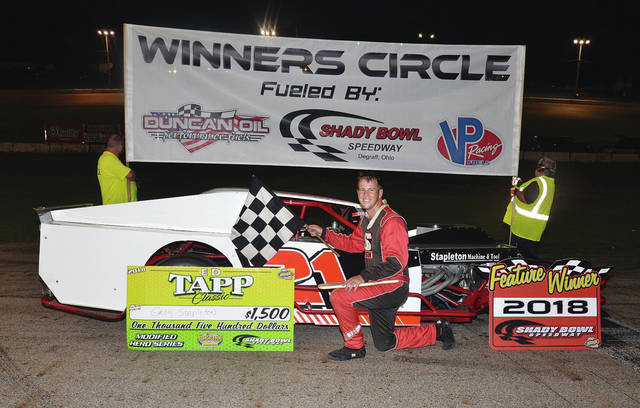 Greg Stapleton (pictured) was the winner of the Ed Tapp Classic for the modifieds at Shady Bowl on Saturday.